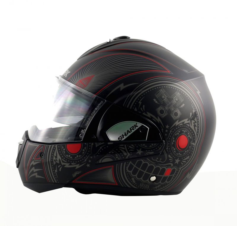casque modulable shark evoline 3 mezcal mat noir anthracite rouge pi ces casques moto sur la. Black Bedroom Furniture Sets. Home Design Ideas