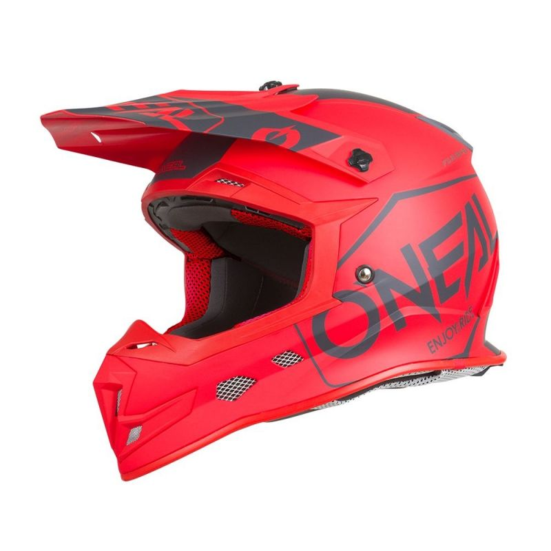 Casque cross O'Neal 5SRS Hexx rouge