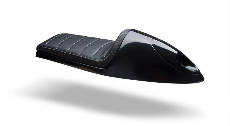 selle caf racer c racer scr2 2 cuir synth tique noir coque noire pi ces car nage sur la. Black Bedroom Furniture Sets. Home Design Ideas