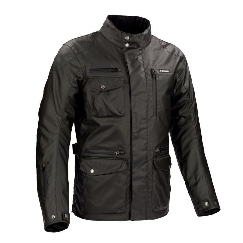 Veste textile bering benton noir quipement route sur la for Garage 4 fois sans frais 77