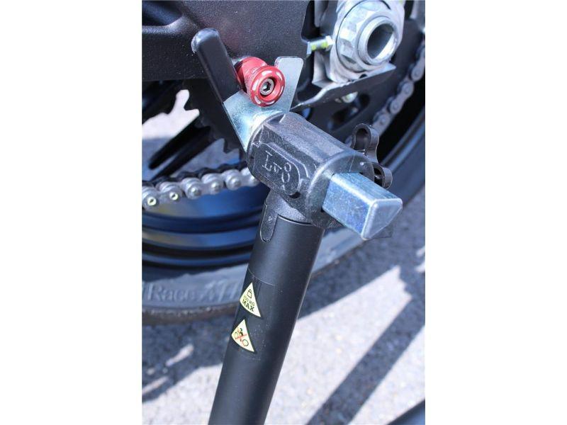 Béquille arrière Bihr by LV8 avec supports en «V» jaune - 1