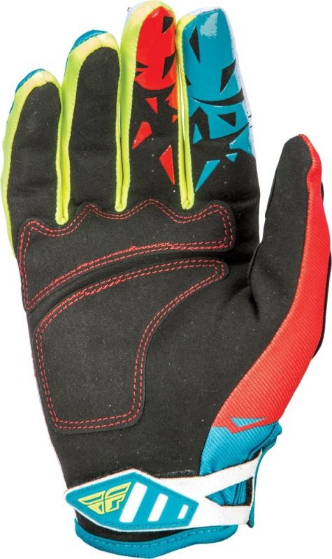 Gants cross Fly Racing Kinetic rouge/bleu - 3