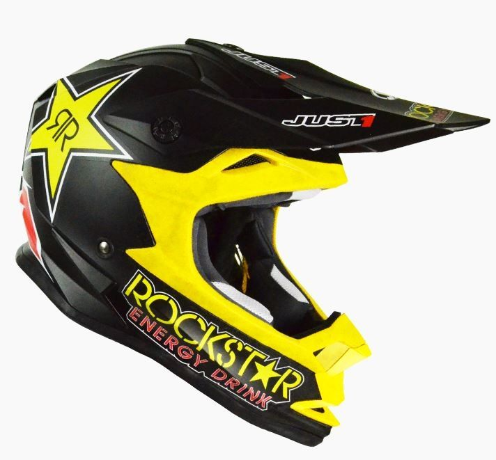 Casque cross Just1 J32 Rockstar noir mat