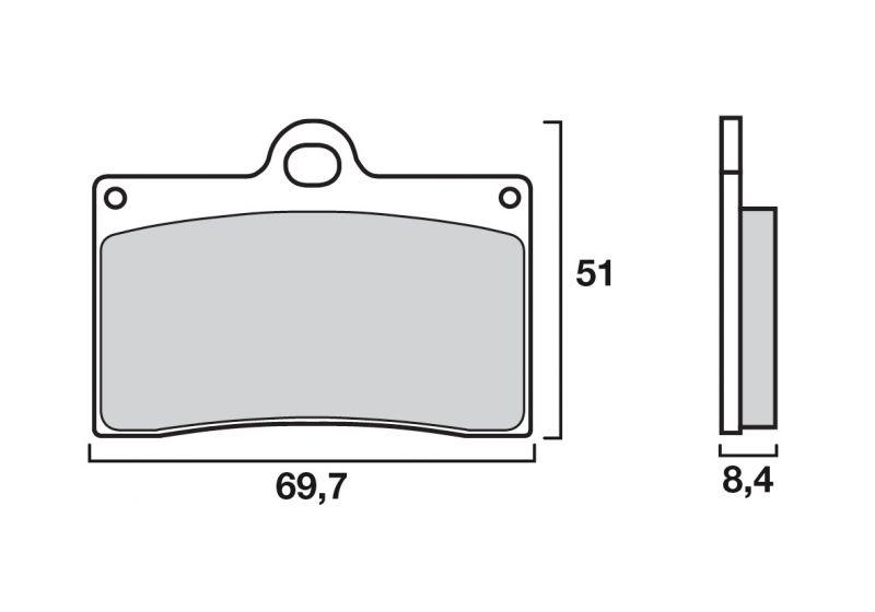 plaquettes de frein brembo carbone c ramique 07bb1507 pi ces freinage sur la b canerie. Black Bedroom Furniture Sets. Home Design Ideas