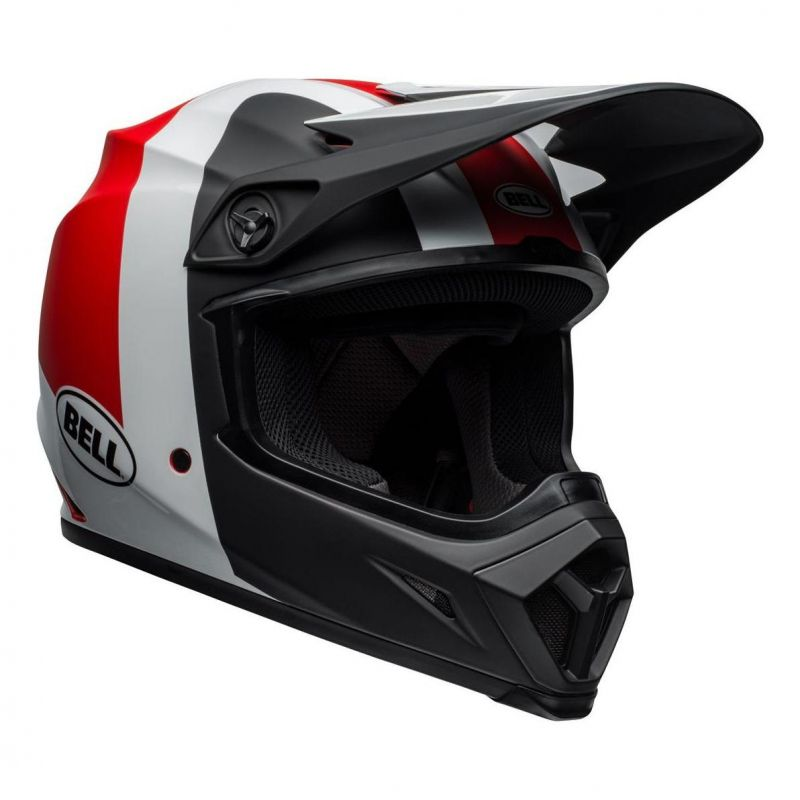 Casque cross Bell MX 9 Mips Presence noir/blanc/rouge - 5