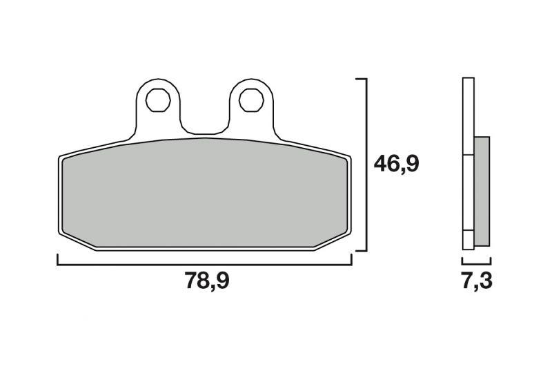 Plaquettes de frein Brembo carbone-céramique 07GR13CC