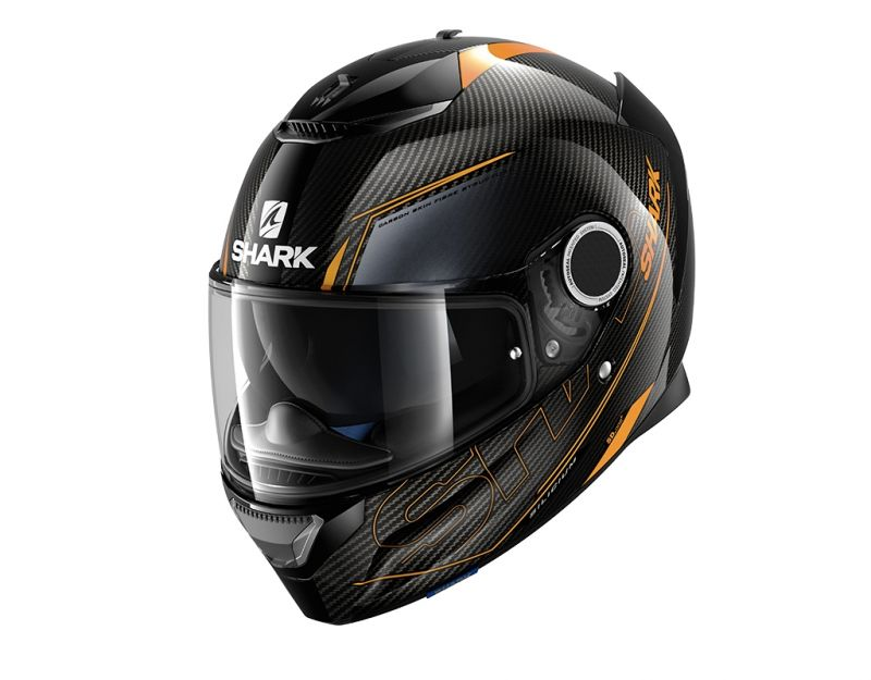 casque int gral shark spartan carbon silicium carbone orange anthracite casques moto sur la. Black Bedroom Furniture Sets. Home Design Ideas