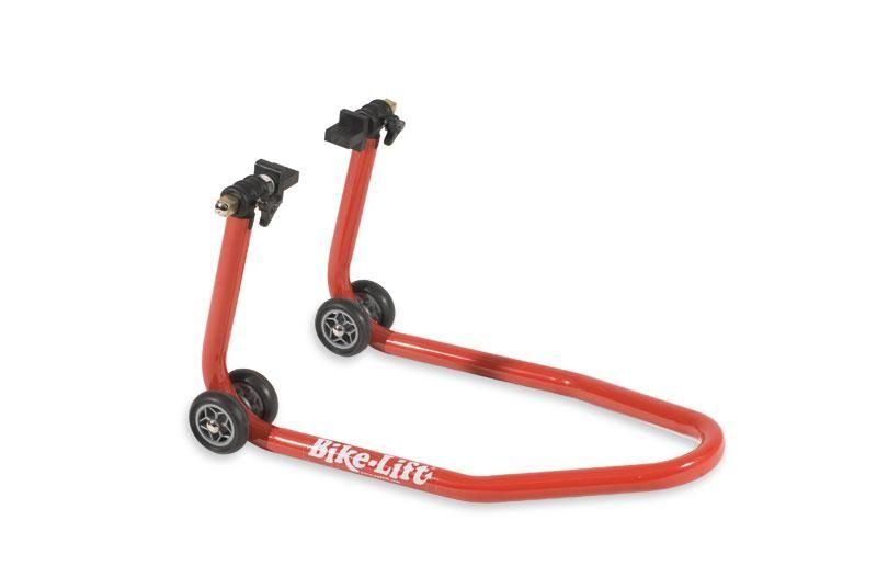 b quille de stand avant rouge bike lift pour triers radiaux atelier stand sur la b canerie. Black Bedroom Furniture Sets. Home Design Ideas
