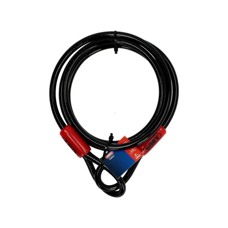 Câble antivol lasso antivol Abus Cobra 2m Ø10 mm noir/rouge - 1