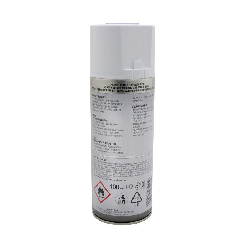 Bombe apprêt Arexons spécial plastique gris 400ml - 1