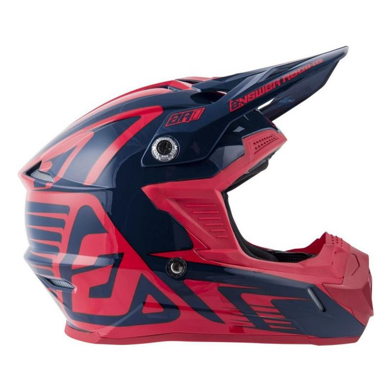 Casque cross Answer AR1 Edge midnight/bright red - 4