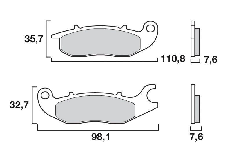 plaquettes de frein brembo carbone c ramique 07ho5606 pi ces freinage sur la b canerie. Black Bedroom Furniture Sets. Home Design Ideas