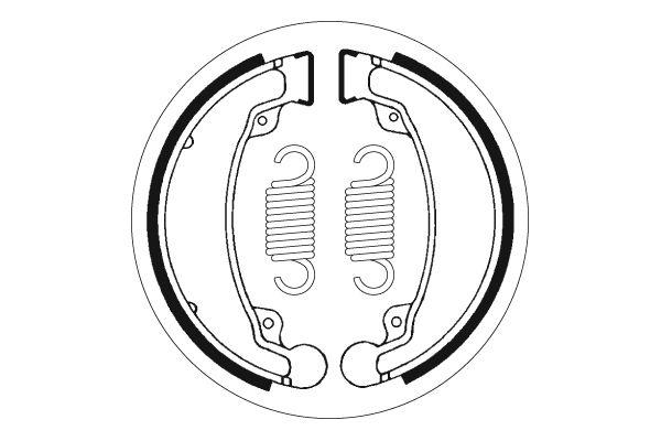 Mâchoires de frein SBS 2069