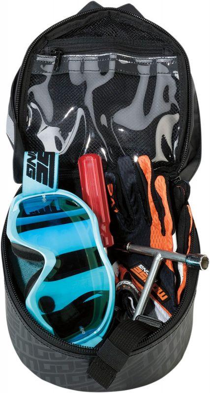 Sacoche textile garde-boue arrière Moose Racing orange/noir/gris - 1