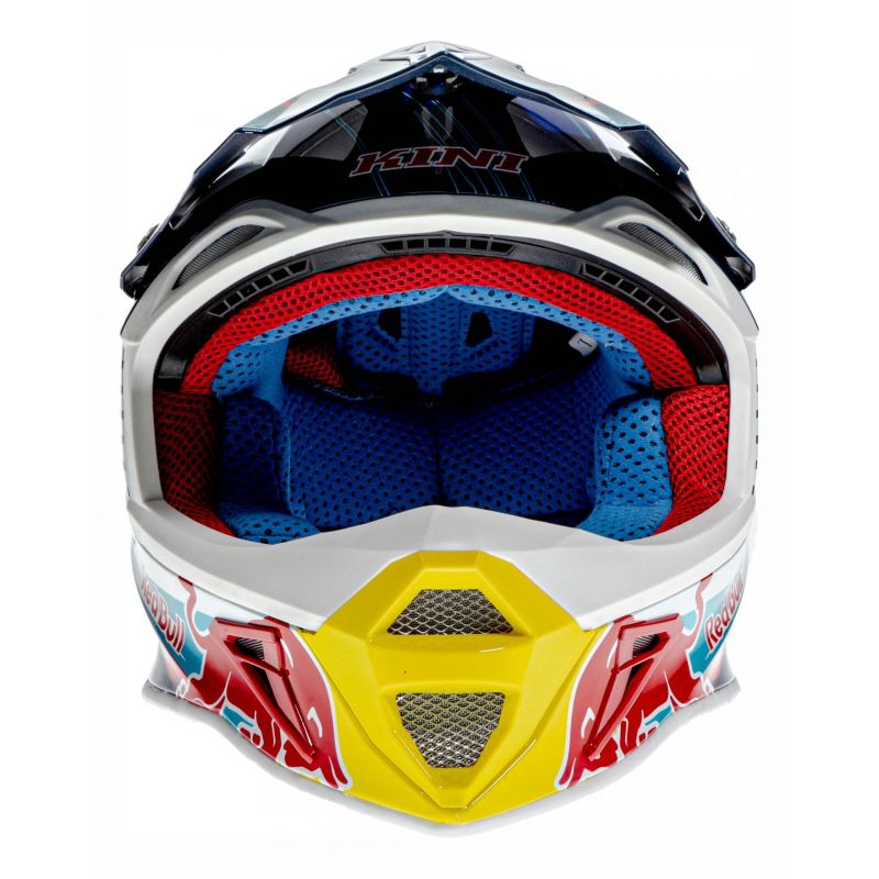 Casque cross Kini Red Bull Competition bleu marine - 3