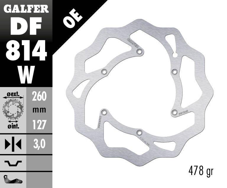 Disque de frein Galfer wave fixe 260x3mm DF814W - 1