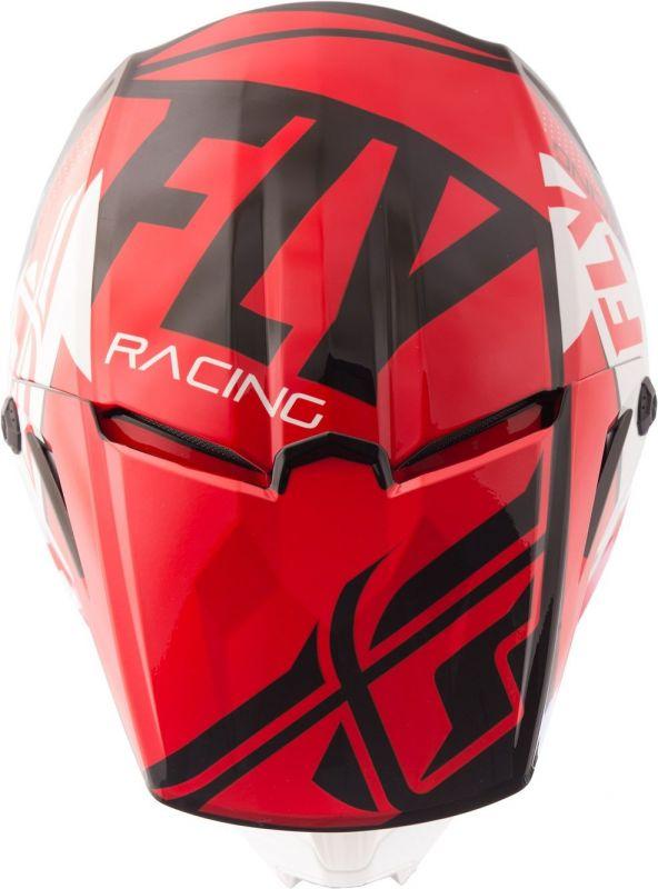 Casque cross Fly Racing Elite Guild rouge/blanc/noir - 3