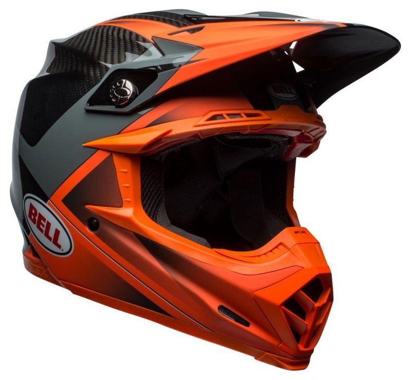 Casque cross Bell Moto 9 Flex Hound Gloss orange mat/charcoal - 2