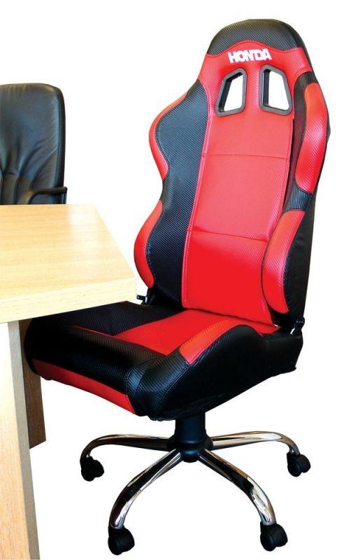 fauteuil honda si ge baquet paddock rouge noir accessoires stand sur la b canerie. Black Bedroom Furniture Sets. Home Design Ideas