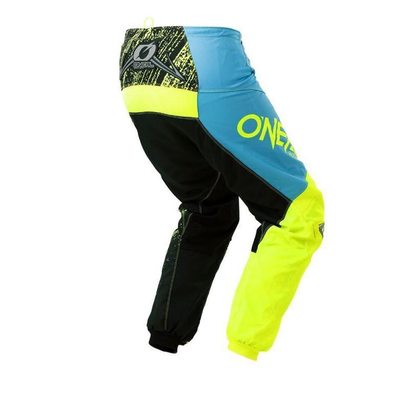 Pantalon cross O'Neal Element Burnout noir/bleu/jaune - 1