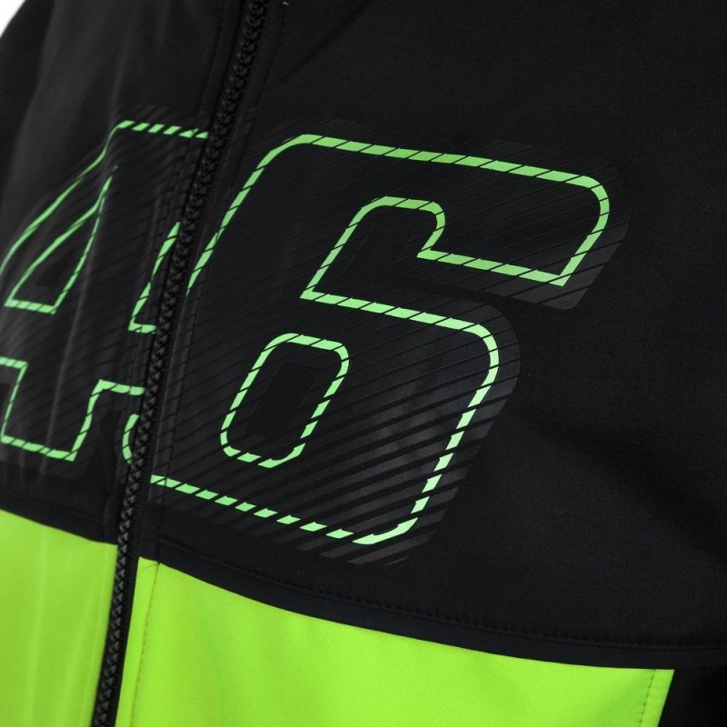 Veste zip VR46 Valentino Rossi jaune fluo 2017 - 2