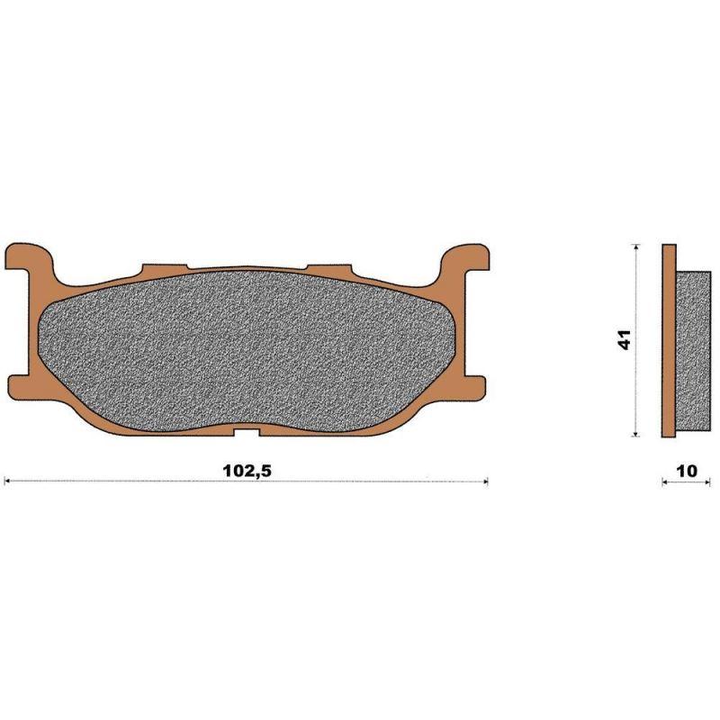 plaquette de frein c ramique avant t max 500 pi ces freinage sur la b canerie. Black Bedroom Furniture Sets. Home Design Ideas