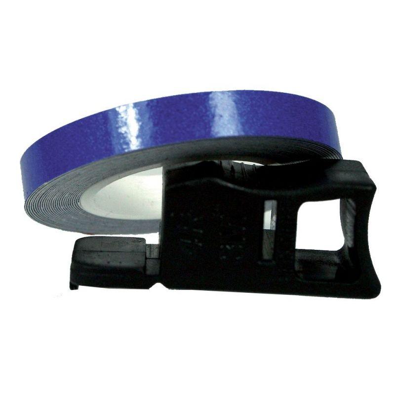 Liseret de Jante Chaft bleu réfléchissant 7mm x 1,5m avec applicateur
