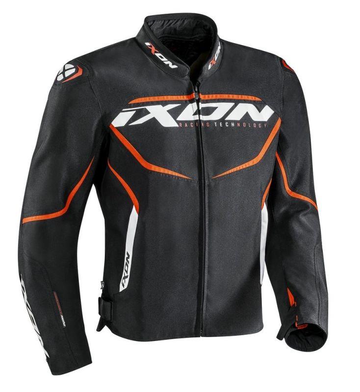 Blouson textile Ixon SPRINTER noir/orange