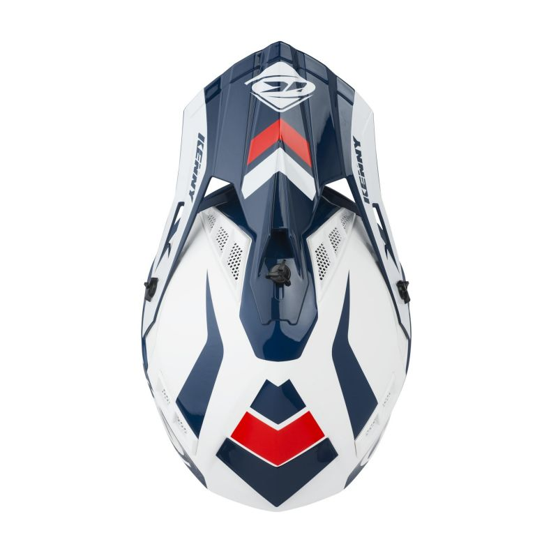 Casque cross Kenny Trophy blanc/rouge/navy - 2
