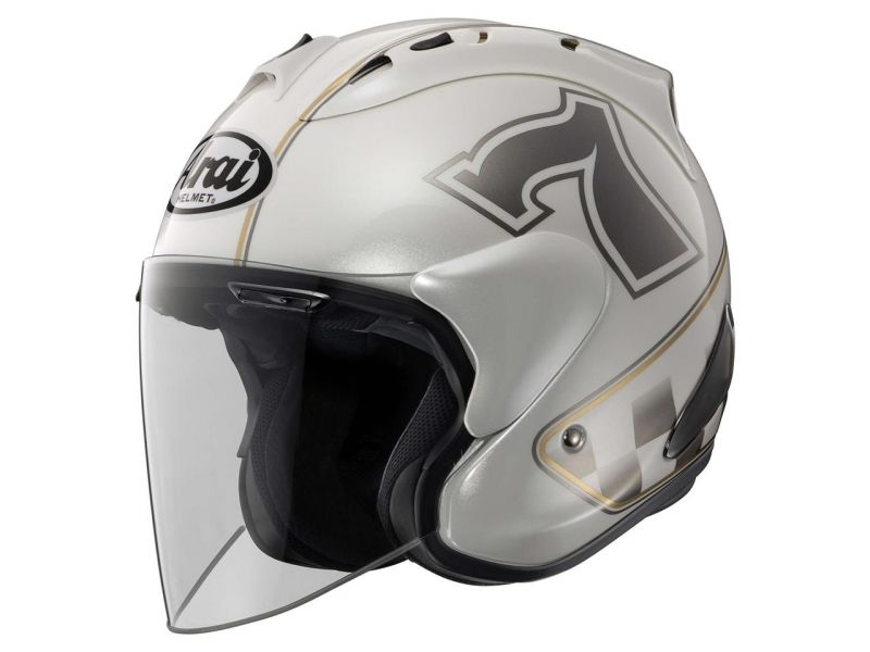 casque arai sz ram x caf racer white casques moto sur la b canerie. Black Bedroom Furniture Sets. Home Design Ideas