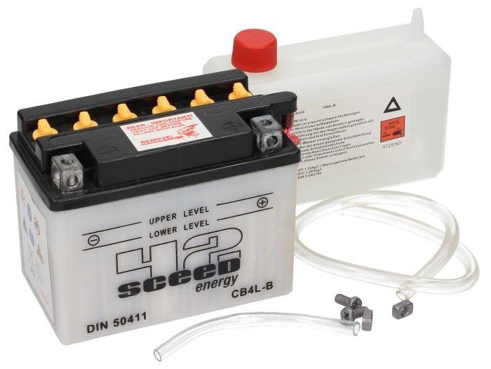 Batterie Sceed 42 YB4L-B 12V 4Ah avec pack acide - 2