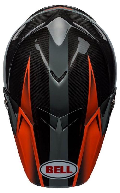 Casque cross Bell Moto 9 Flex Hound Gloss orange mat/charcoal - 6