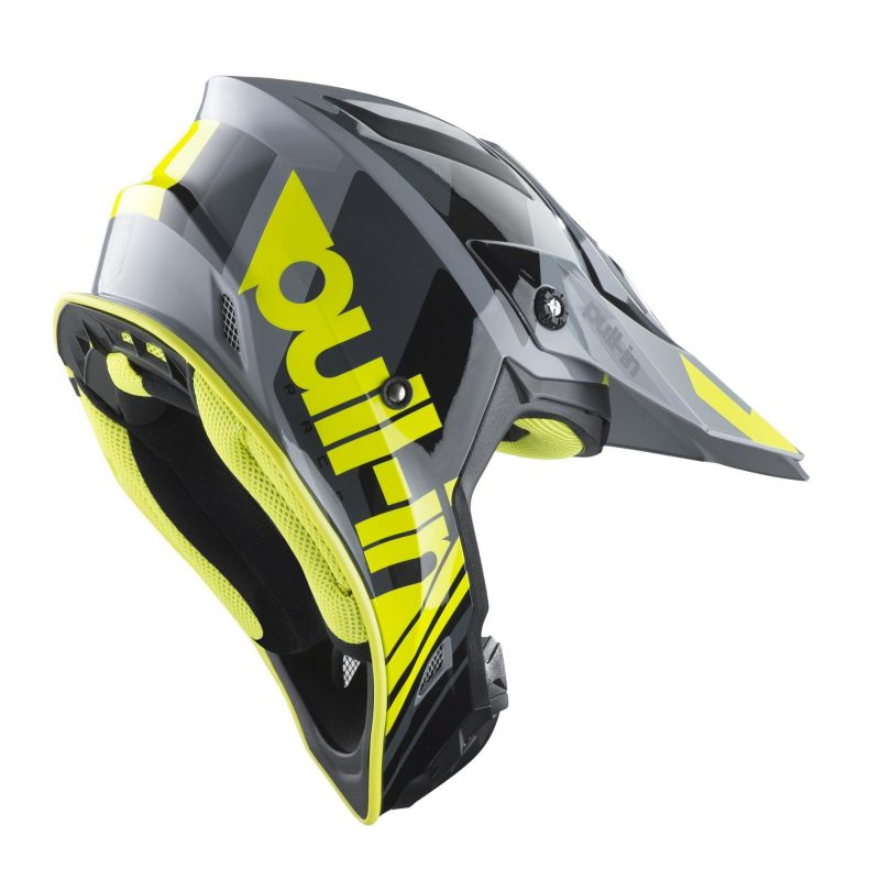 Casque cross Pull-in Race gris/jaune fluo - 1