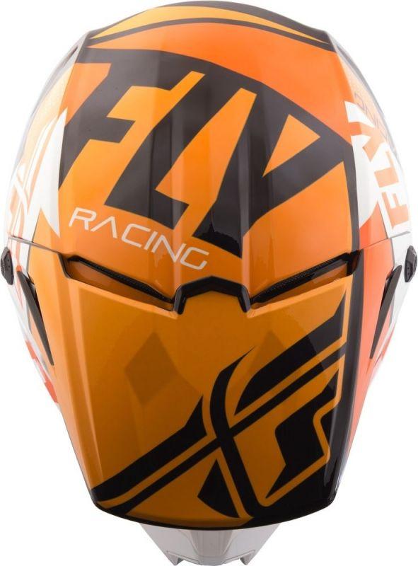 Casque cross Fly Racing Elite Guild noir/orange/blanc - 3