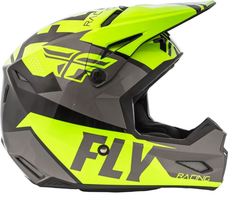 Casque cross Fly Racing Elite Guild gris/jaune fluo - 1