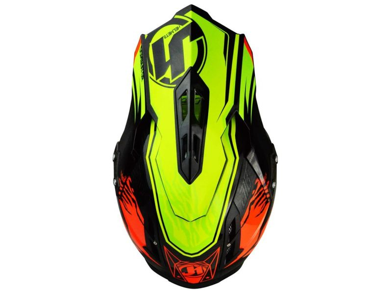 Casque cross Just1 J12 Dominator rouge/jaune - 3