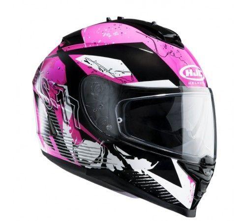 casque int gral hjc is 17 pink rocket mc8 rose noir blanc pi ces casques moto sur la b canerie. Black Bedroom Furniture Sets. Home Design Ideas