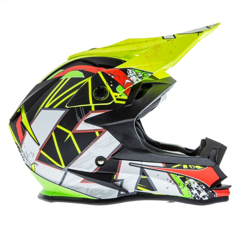 Casque cross Lazer OR1 Aerial carbone/jaune/rouge - 2