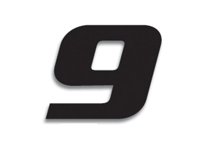 3 numéros de course Blackbird N° 9 noirs 20 x 25 cm