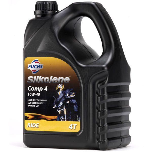 huile moteur 4t silkolene comp 4 10w40 4l lubrifiant sur la b canerie. Black Bedroom Furniture Sets. Home Design Ideas