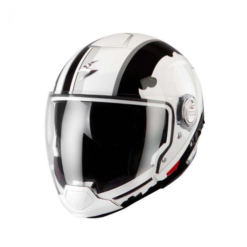 casque transformable scorpion exo 300 air gunner blanc noir pi ces casques moto sur la b canerie. Black Bedroom Furniture Sets. Home Design Ideas