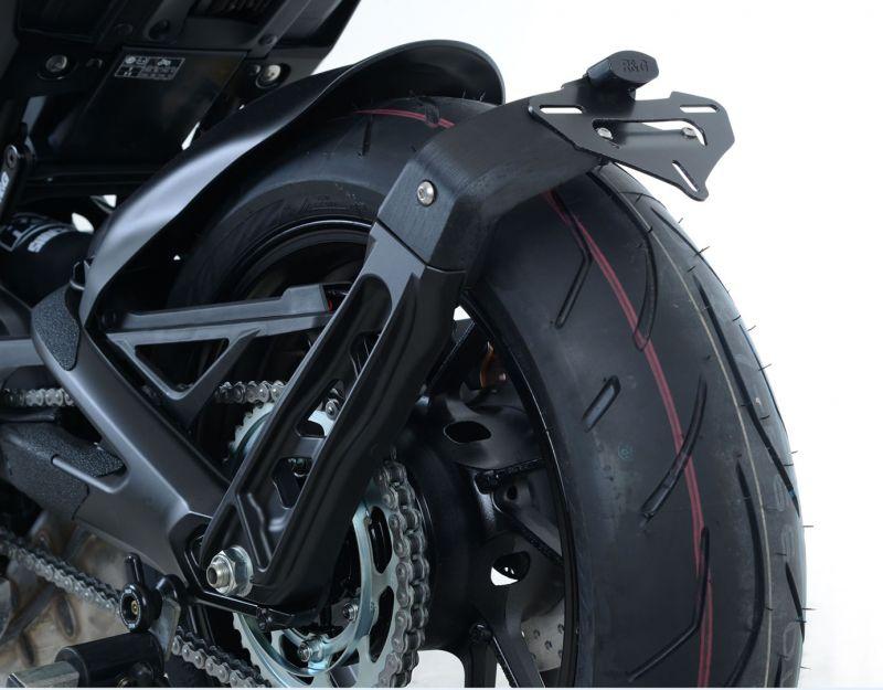 first look the best attitude authentic quality Support de plaque d'immatriculation sur roue R&G Racing noir Yamaha MT-09  17-18