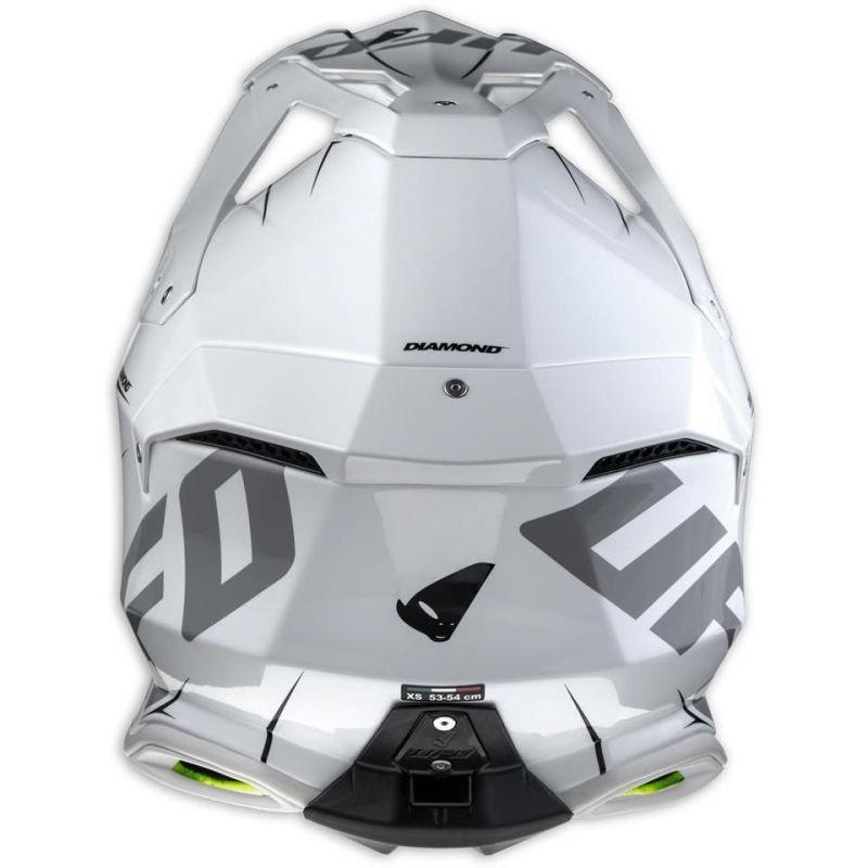 Casque cross UFO Diamond blanc / gris / vert - 5