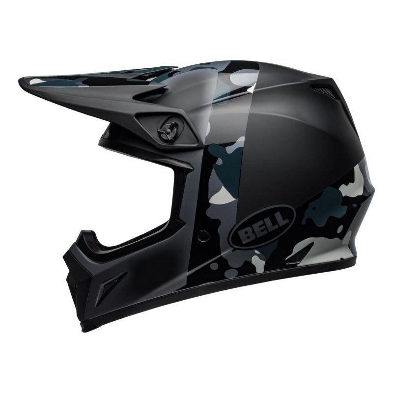 Casque cross Bell MX 9 Mips Presence Camo titanium/noir - 1