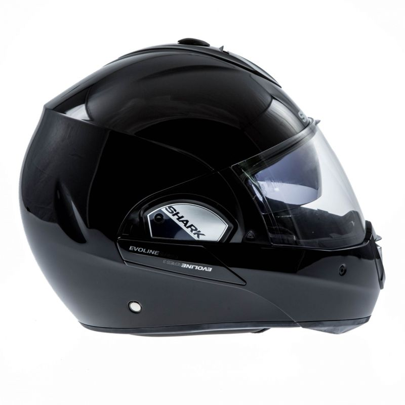casque modulable shark evoline 3 noir casques moto sur la b canerie. Black Bedroom Furniture Sets. Home Design Ideas