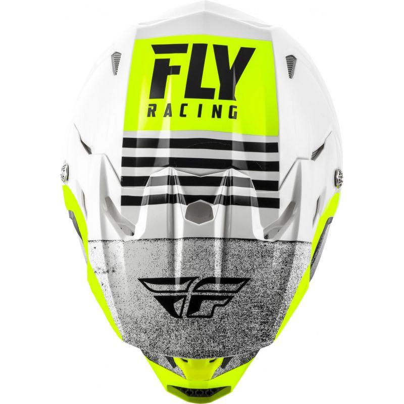 Casque cross Fly Racing Toxin Mips Embargo blanc/noir - 2