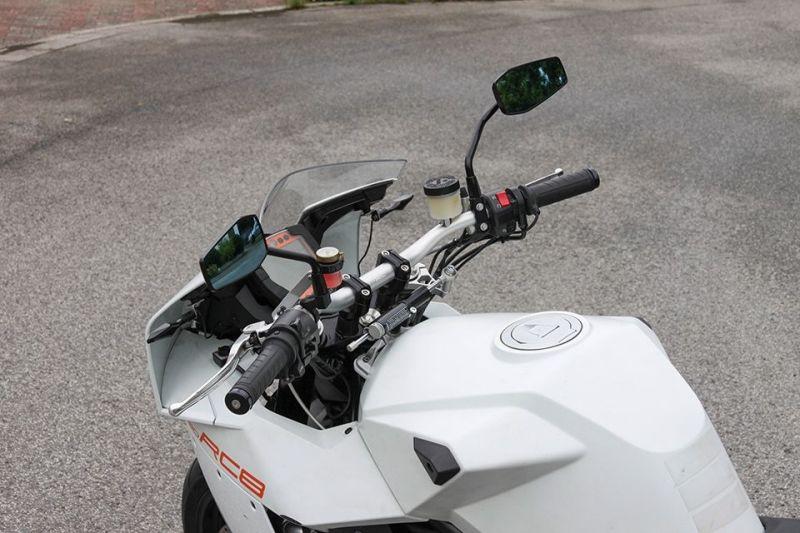 Guidon LSL Superbike bas argent Ø 28,6 mm - 1
