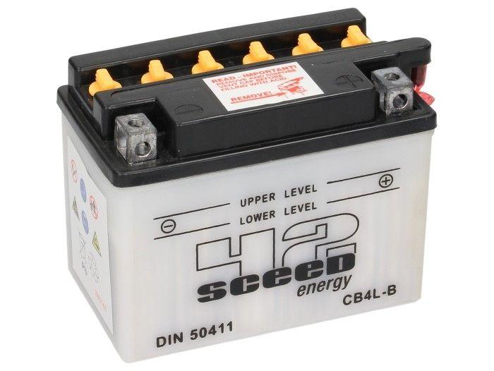 Batterie Sceed 42 YB4L-B 12V 4Ah avec pack acide