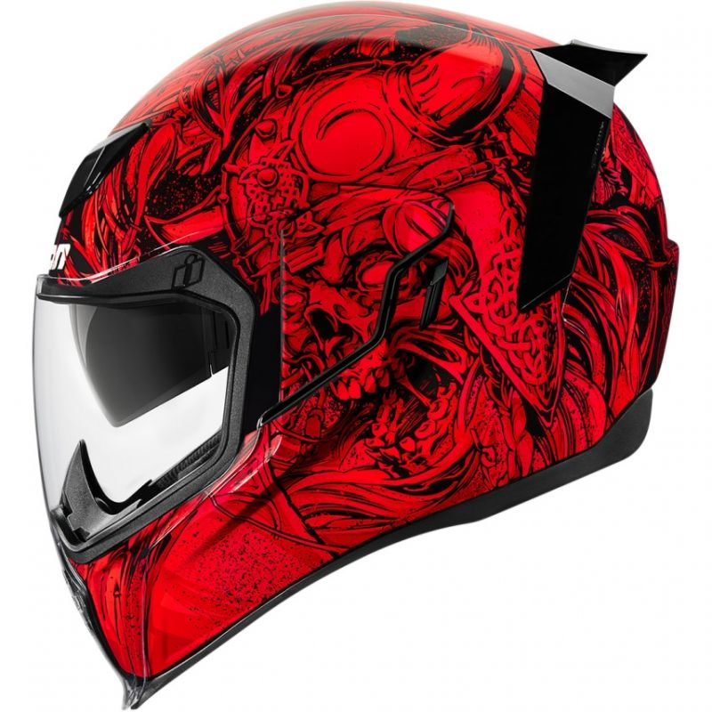 Casque intégral Icon Airflite Krom rouge/noir - 1