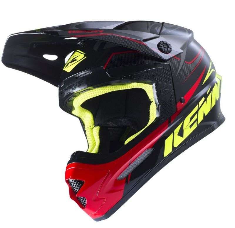 Casque cross Kenny Track noir/gris/rouge